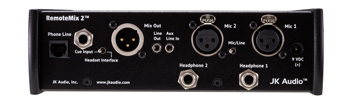 JK Audio RemoteMix 2 Back