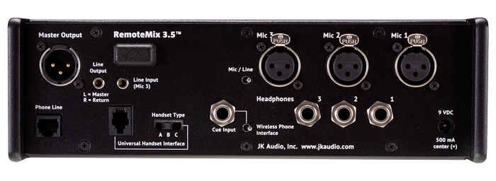 JK Audio RemoteMix 3.5 Back