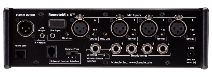 JK Audio RemoteMix 4 Back